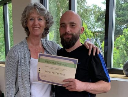 Martijn rondt opleiding holistisch ademcoach af